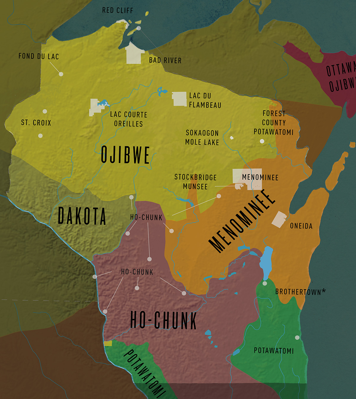 Map Wisconsin First Nations